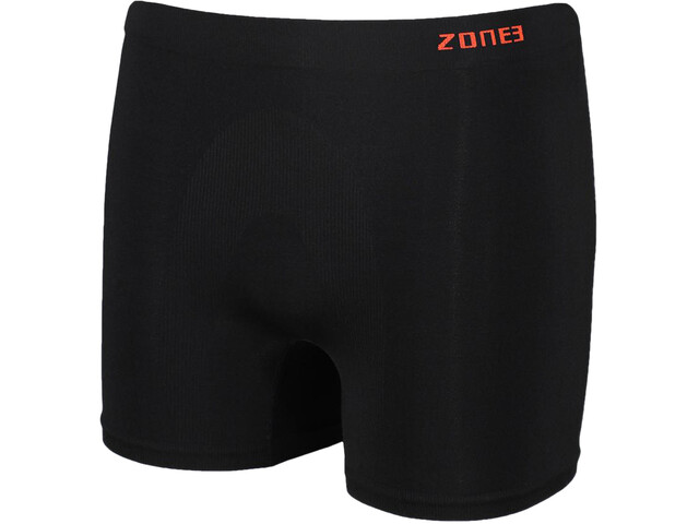 Zone3 Seamless Support Boxer Homme, black/orange